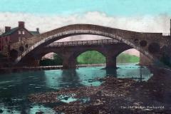 Glamorgan, Pontypridd, The Old Bridge in Colour